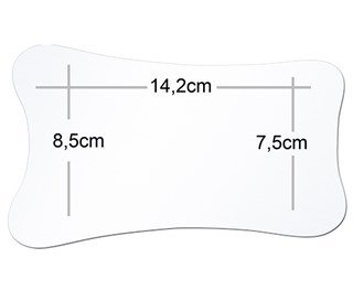 Double Sided Photographic Mirror - Extra Large Occlusal Surface  - Pure Reflect (8.5cm x 14.2cm x 7.5cm)
