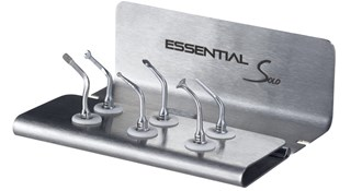 ACTEON ESSENTIAL II KIT- BS1S II, BS4 II, LC2 II, SL1 II, SL2 II, SL3 II tips, an autoclavable metal support, an autoclavable universal wrench.
